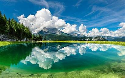 Clouds Sky Reflection Lake Mountains Wallpapers13