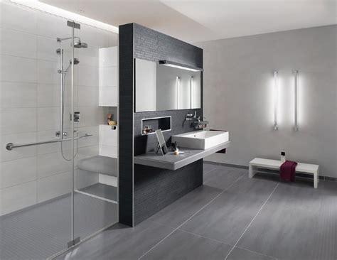 Moderne Badezimmer Fliesen Grau by Badgestaltung Grau Wei 223
