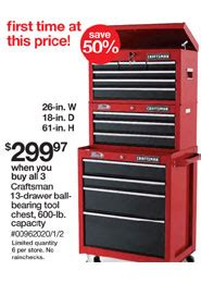black friday tool cabinet deals craftsman sears black friday 2011 tool deals