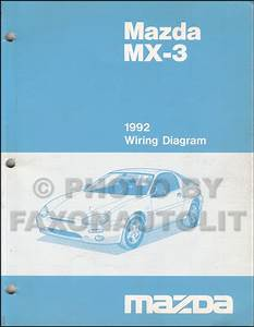 1992 Mazda Mx 3 Wiring Diagram Manual Original
