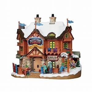 Maison De Noel Miniature : maison lumineuse station de ski lemax vail village la magie des automates ~ Nature-et-papiers.com Idées de Décoration