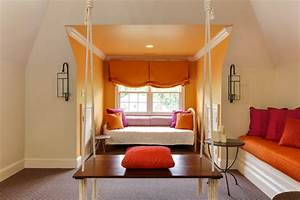 Gathering Room With Indian Swing - Transitional - Family