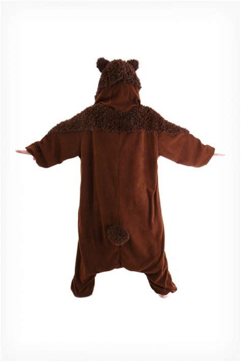 brown teddy bear onesie kigurumi pajamas kigurumicom
