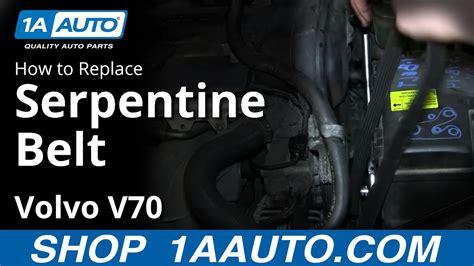 install replace engine serpentine belt volvo