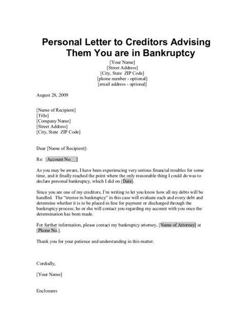 insolvency letter  creditors template samples letter