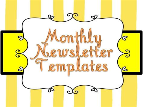 Free Newsletter Templates For Teachers by Weekly Newsletter Templates For Teachers Homework
