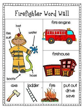 firefighter preschool a free downloadable firefighter word wall activity for 706