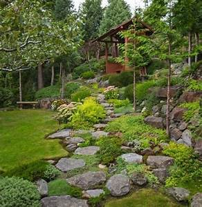 17 best images about jardinage on pinterest coins With superb amenager un jardin en pente 0 1001 idees et conseils pour amenager une rocaille fleurie
