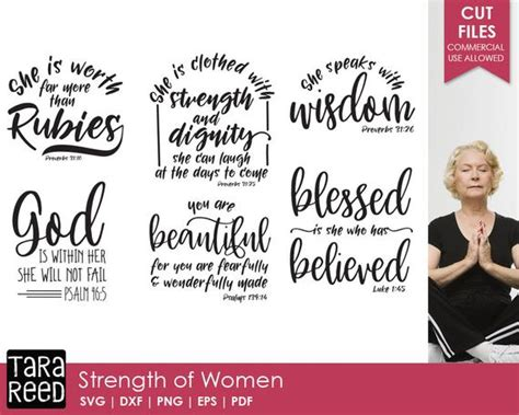 strength  women bible verse svg  cut files