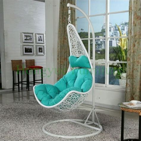 Rattan Hammock Chair by White Rattan Hanging Hammock Chair With Cushions Designs