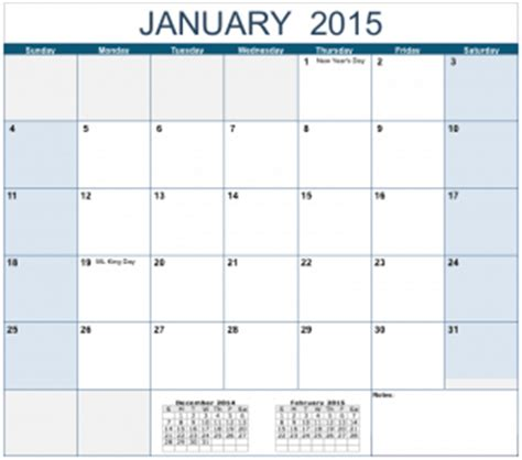horizontal  monthly calendar template  numbers