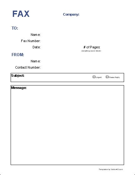 Cover Sheet Template Word by 6 Fax Cover Sheet Templates Word Excel Templates