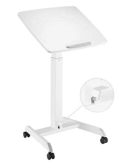 . BRATECK Height Adjustable Mobile Workstation with Foot