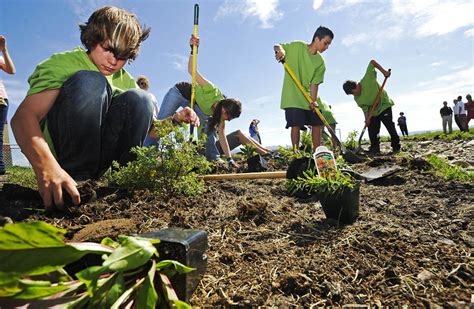 Sacajawea Middle School rain garden project helps ...