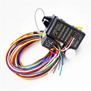 12 Circuit Universal Wire Harness 14 Fuse 12v Street Hot
