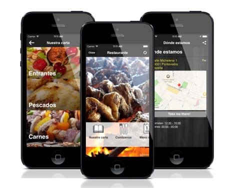 application cuisine android app para restaurante y bar adiante apps