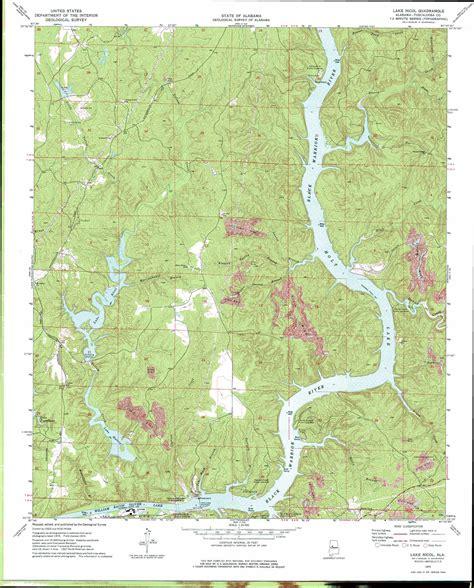 Lake Nicol Topographic Map Al Usgs Topo Quad 33087c4