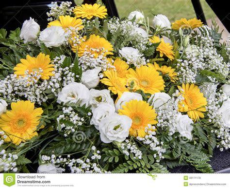 wedding car flowers stock image image  classic luxury