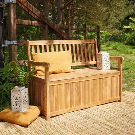 banc coffre bois banc coffre en bois d acacia fsc bois dessus bois dessous