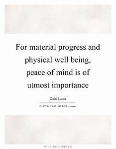 Well Being Quot... Importance Of Progress Quotes