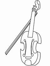 Coloring Violin Sheet Fiddle Template sketch template