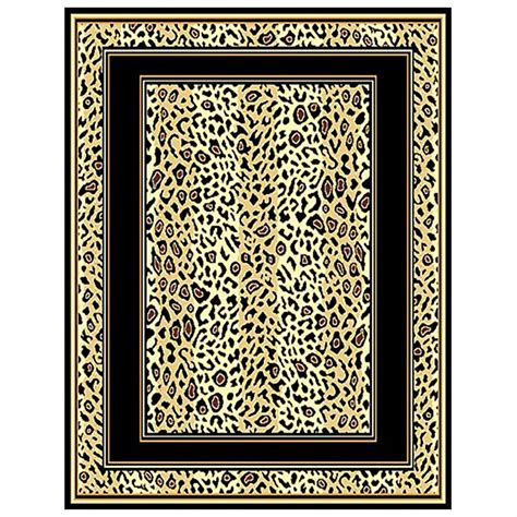 leopard print rug leopard print border area rug 226523 rugs at sportsman