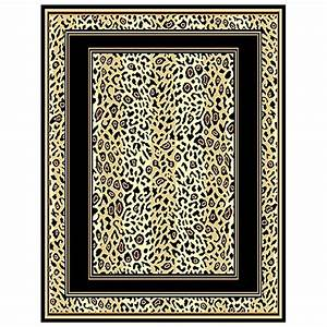 Leopard Print Border Area Rug - 226523, Rugs at Sportsman