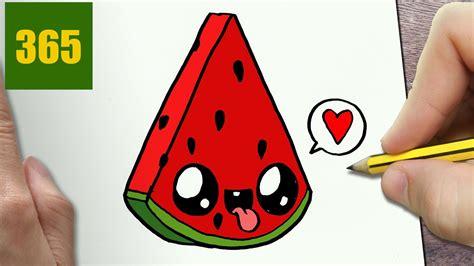draw draw  cute watermelon easy youtube