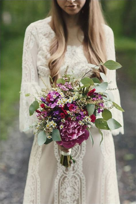 picture  dreamy  relaxed boho wedding bouquets