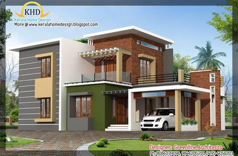 Contemporary Home Elevation- 1915 Sq. Ft.