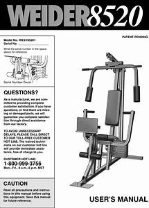 Weider 8520 System Wesy8520 Users Manual