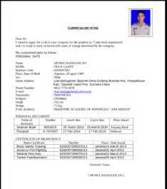 contoh resume cv yang baik contoh cv daftar riwayat hidup yang baik dan benar