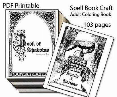 Wiccan Shadows Printable Spell Coloring Spells Magic