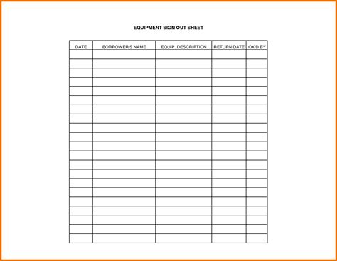 sign  sheet template sign  sheet templates