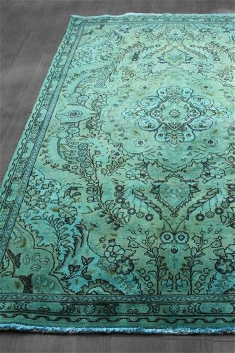 teal and green rug dyed tabriz design wool rug teal blue green