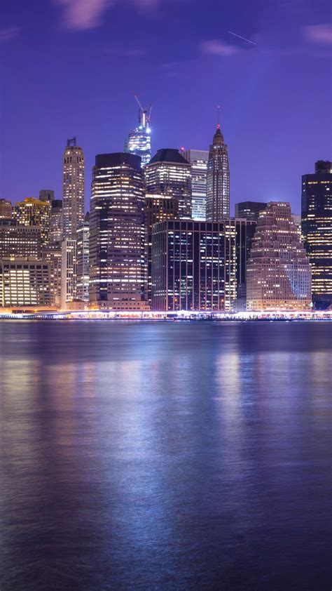 wallpaper  york city east river cityscape nightscape
