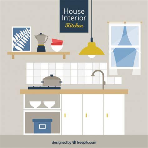 kitchen  wooden furniture  flat design vector