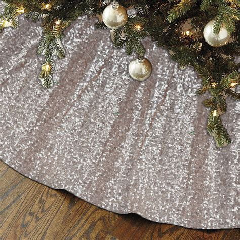 new sequin christmas tree skirt holiday pine by