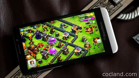 play clash of clans on blackberry clash of clans land