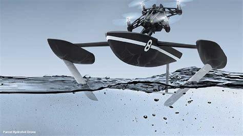 parrot hydrofoil minidrone  trimaran  foils propulse par  dronautic