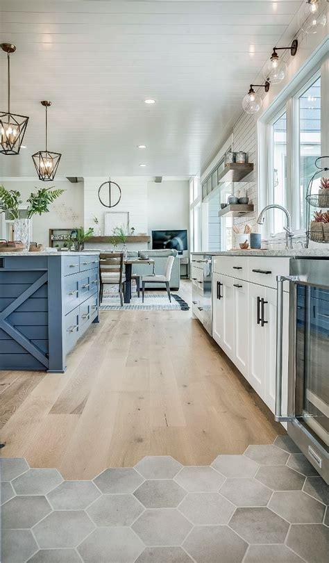 kitchen flooring  ragno hexagon tiles  river shores