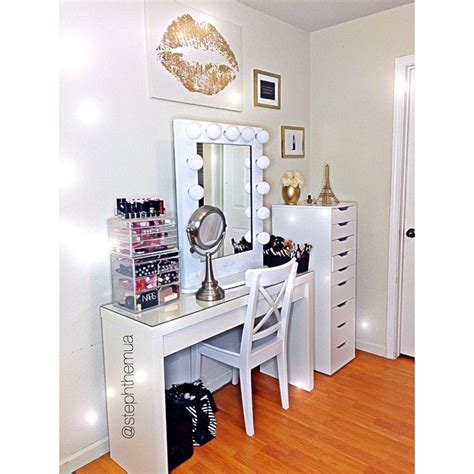 White Vanity Makeup Station by The Virgin Oracle Joseph Hatsumomo Blue Kenisha