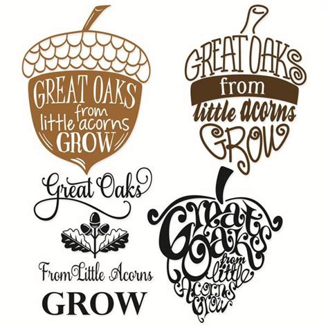 mighty oaks from acorns grow display banner mighty oaks from acorns grow svg designs for back to school silhouette