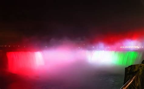 Niagara Falls turned red-white-green to commemorate the ...