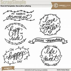 digital scrapbooking kit scrapsimple embellishment With decorative words and letters