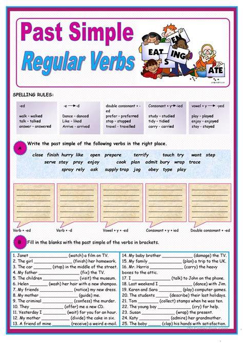 1170 Free Esl Verb Tenses Worksheets
