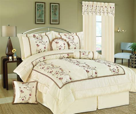 7pcs somerset embroidery bedding comforter set ebay