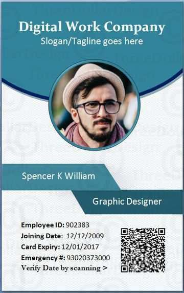 employee id card template microsoft publisher cards