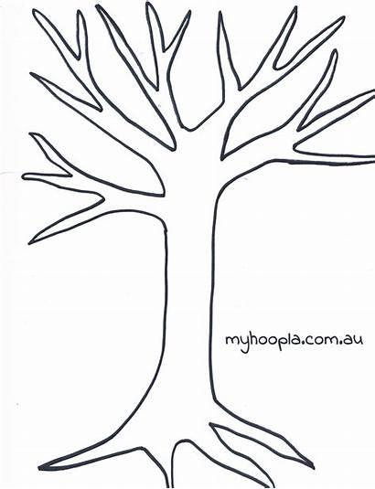 Tree Circle Template Kandinsky Printable Leaves Trees
