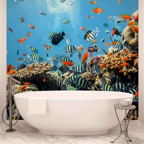 Sea Ocean Fish Corals Wall Paper Mural  Buy At Europosters. Building Signage. Anchor Rope Stickers. Bronzeville Murals. May 23 Signs Of Stroke. Full Color Vinyl Banners. Minimalist Logo. Speech Delay Signs. Lace Banners